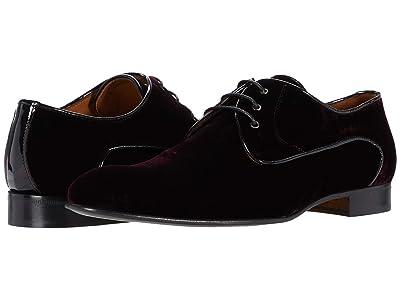 Massimo Matteo Velvet Cap Toe Oxford (Burgundy Velvet) Men