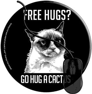 Mouse Pad for Computers,Gaming Mouse-Pads Office for Laptop Mouse Mat for PC Non Slip Mice Pad Grumpy Cat Free Hugs Go Hug Cactus 2T1194
