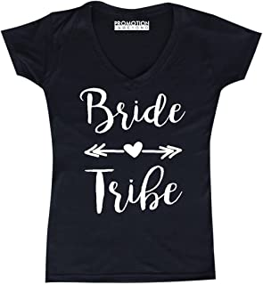 P&B Wedding Bridal Party Gear Bride Tribe Women's V-Neck