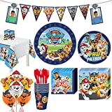 Party City PAW Patrol Adventures Kids Birthday Party Supplies for 8 Guests, Includes Plates, Napkins, Cutlery, and More