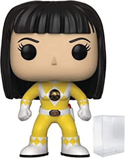 Power Rangers Funko Pop! TV: Mighty Morphin Trini Yellow Ranger (No Helmet) Vinyl Figure (Includes Pop Box Protector Case)
