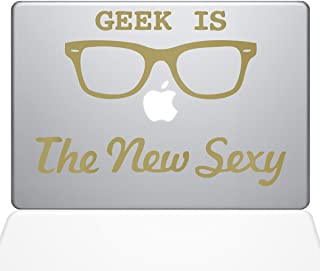 "The Decal Guru Geek is the New Sexy MacBook Decal Vinyl Sticker  - 15"" Macbook Pro (2016 & newer) - Gold (1066-MAC-15X-G)"