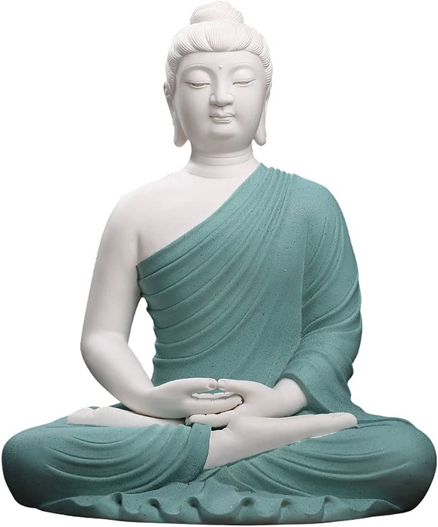 buddha statue Meditating Ceramic Statue Bombing free shipping Serene Luxury goods De Buddha