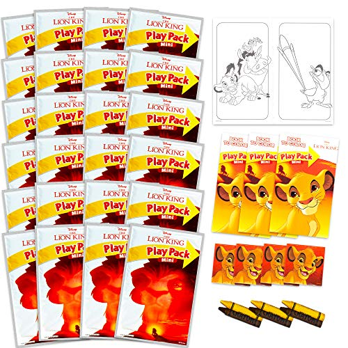Disney Lion King Party Favors Pack ~ Bundle of 24 Mini Lion King Play Packs Filled with Stickers, Coloring Books, Crayons (Lion King Party Supplies)