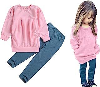 Toddler Girls Clothes Winter Warm Long Sleeve Tops+Long Pants Set