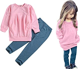 Toddler Girls Clothes Winter Warm Long Sleeve Tops+Long...
