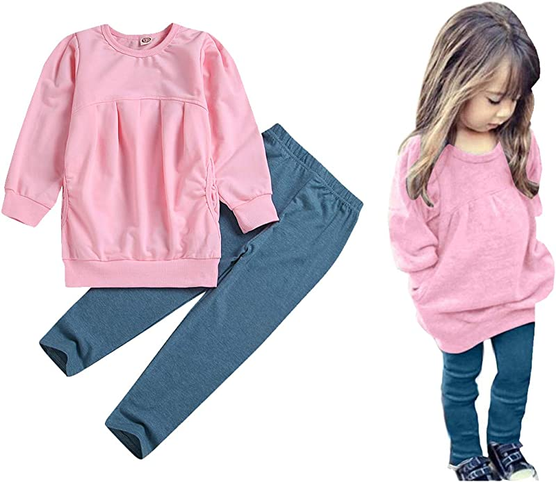 CM C M WODRO Toddler Girls Clothes Winter Warm Long Sleeve Tops Long Pants Set