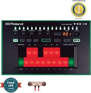 Roland Touch Baseline Performance-Ready Bass Synthesizer TB-3 includes Free Wireless Earbuds - Stereo Bluetooth In-ear and 1 Year Everything Music Extended Warranty