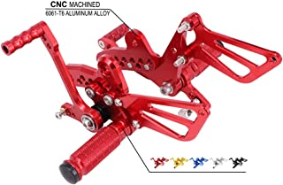 Motorcycle Rearsets Adjustable Foot Pegs Footrests Rear Set For Suzuki GSX1300R Hayabusa 1999-2013 - CNC Red