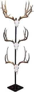 Skull Hooker Trophy Tree European Trophy Mount – Hang up to 5 Taxidermy Deer Antlers and other Skulls for Display – Graphite Black