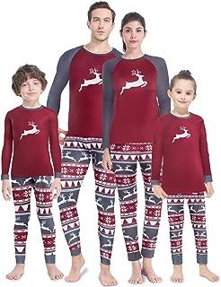 Family Christmas Pajamas Matching Set Fleece Lined Thermal Underwear