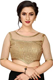 Febo Fashion Women's Free Size Silk Sequence Work Blouse