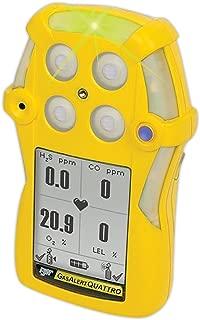 BW Technologies by Honeywell GasAlertQuattro QT-XW00-R-Y-NA 4-Gas Detector (O2,LEL,CO,H2S)