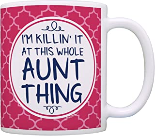 Aunt Gifts Aunt I'm Killin It at This Whole Aunt Thing Aunt Coffee Mug Aunt Coffee Cup Aunt Gift Coffee Mug Tea Cup Pink