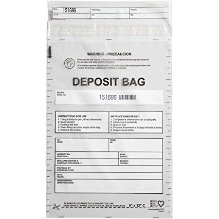8 x 7 Currency Strap Bags Case of 1000 Ten Strap Bags