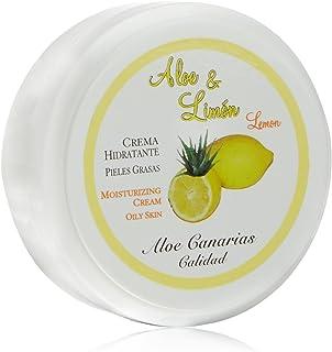 Aloe Canarias 200100 - Crema de aloe vera y limón hidratante para pieles grasas 150 ml