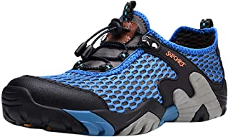 Men Flat Bottom Hiking Shoes, Male Lightweight Breathable Non-Slip Off-Road Sneakers Mesh Breathable Sport Shoe