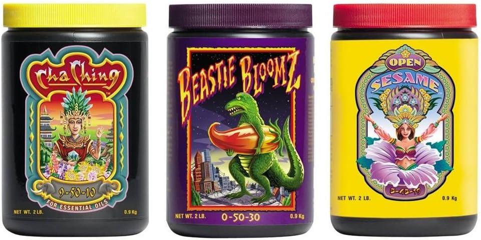 FoxFarm Trio Open Sesame, Beastie Bloomz & Cha Ching Soluble Granular Fertilizer Fox Farm Tri-Pack (2 LB Jars)