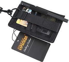 EXCELLENT ELITE SPANKER Tactical ID Card Badge Holder Patch Adjustable Neck Lanyard Key Ring and Credit Card Organizer (Black)