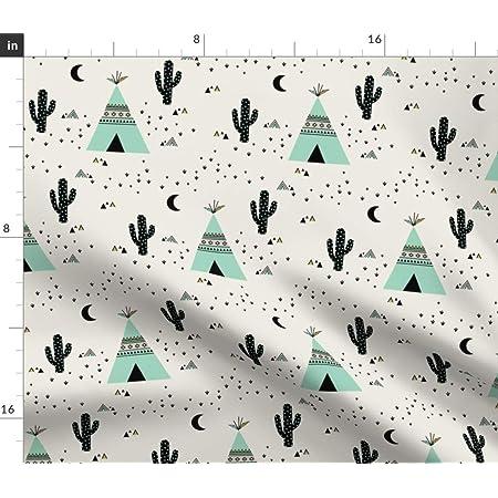 Tablecloth Southwest Geometric Tribal Aztec Arrows Buffalo Cacti Cotton Sateen