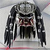 TKTTBD Casco De Motocicleta Predator - Casco De Motocicleta Predator Máscara Facial Completa, Casco De Motocicleta Predator, Adecuado para Accesorios De Máscara De Cosplay De Halloween A,55-60cm