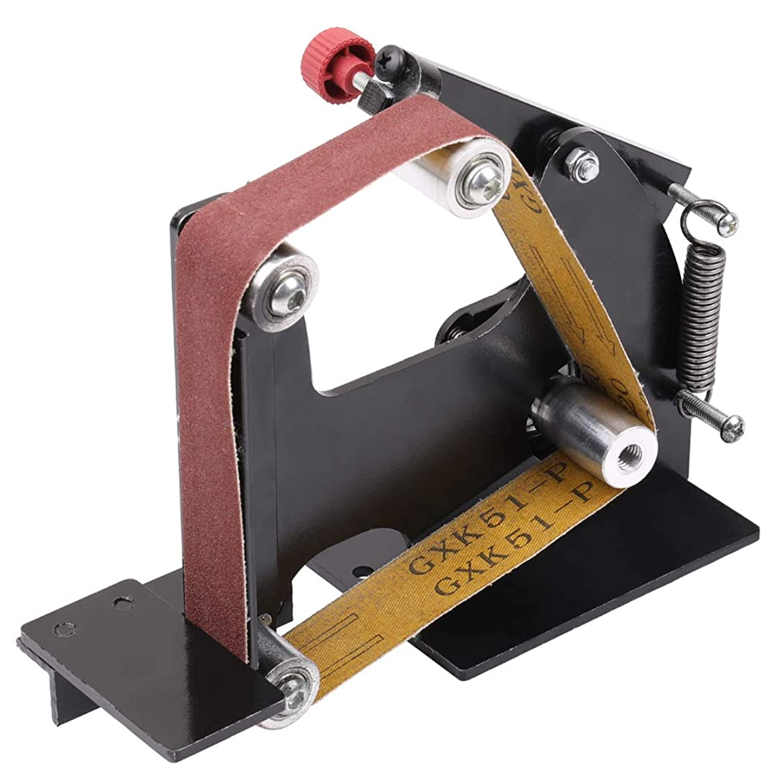 尋ねるケーブルカーながらKKmoon ベルトサンダー アダプター 鉄アングル グラインダー サンディングベルト アダプター サンディングマシン アクセサリー 研削盤 研磨機