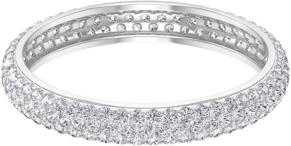 0.98 Ct Certified Moissanite Eternity Ring, Unique Wedding Band Ring, DE-VS1 Color Clarity Gemstone Cluster Ring, Classic Women Statement Promise Ring, 14K Gold