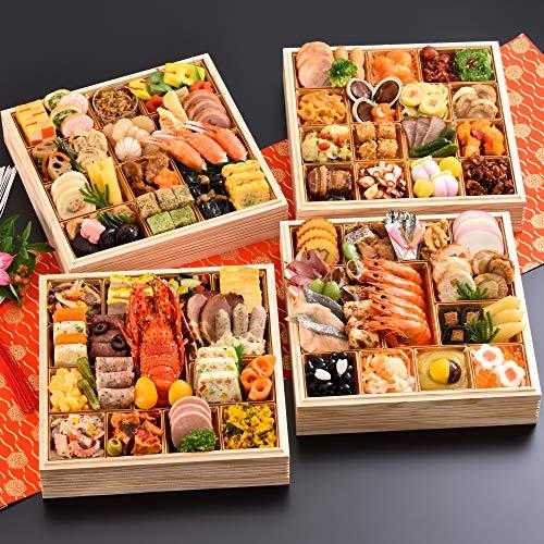 京都 しょうざん 和洋中 おせち料理 2021 華宴 特大8.5寸 与段重 100品 盛り付け済み 和風&洋風&中華 冷凍おせち 5人前〜6人前 お届け日:12月30日