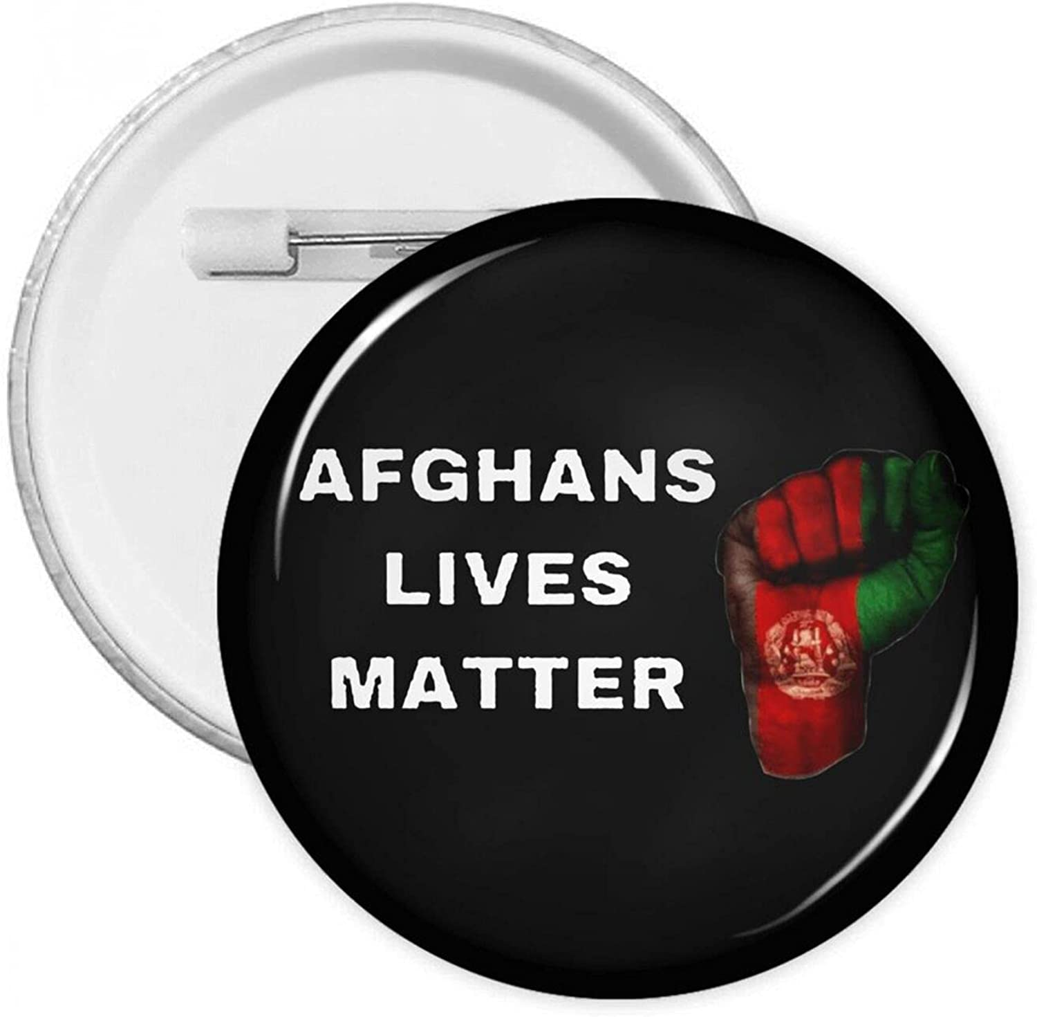 Now on sale Afghan Lives Matter Round Mail order Pins With Button Badges