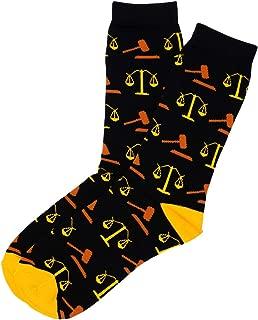UpKiwi Funky Occupation Birthday Crew Socks - Birthday Party Celebration Lawyer Gift Ideas
