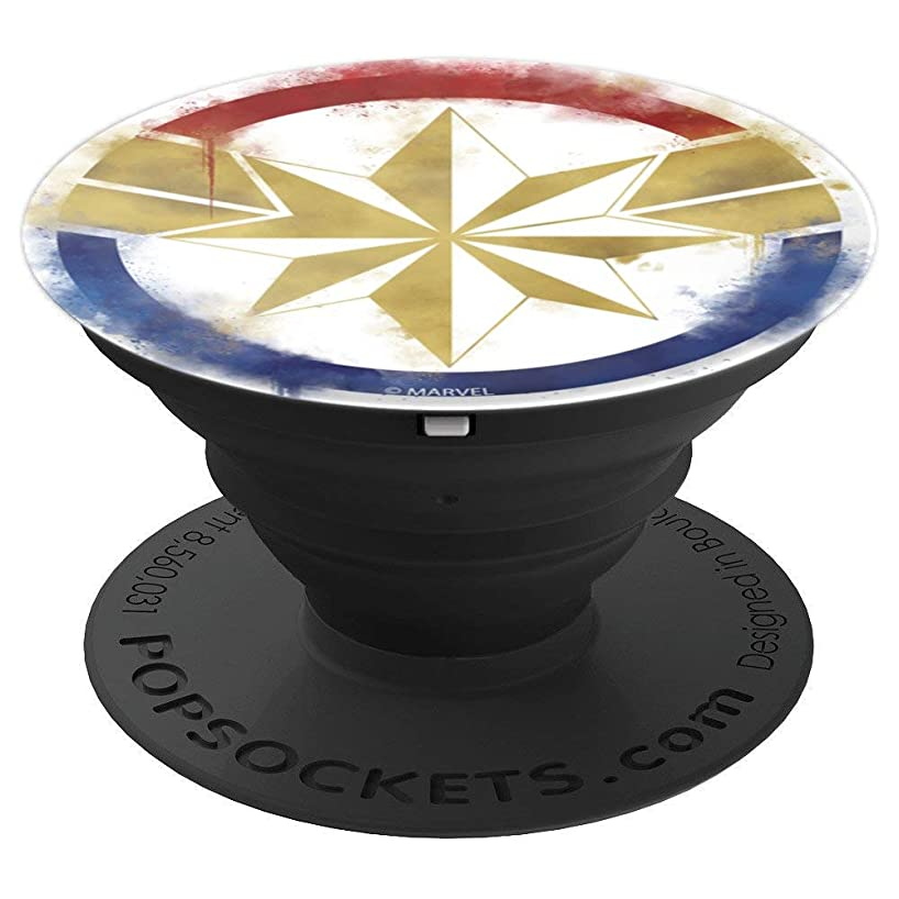 Marvel Avengers Endgame Captain Marvel Spray Paint Logo - PopSockets Grip and Stand for Phones and Tablets