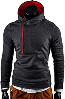 Mens Winter Slim Fit Hooded Knit Sweater Fashion Patchwork Trench Coat Jacket