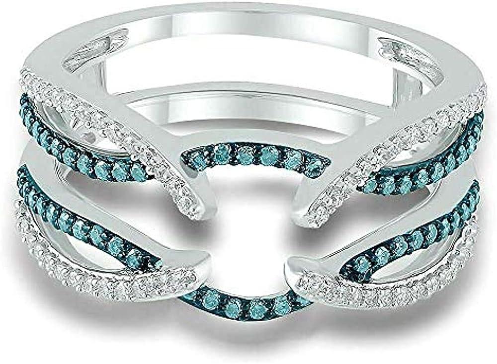 Round Cut Nashville-Davidson Mall Created Blue Topaz Wedding Diamond Engagement Ranking TOP10 White
