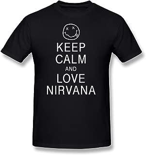 FZLB Men's Keep Calm and Love Nirvana T-Shirt Red