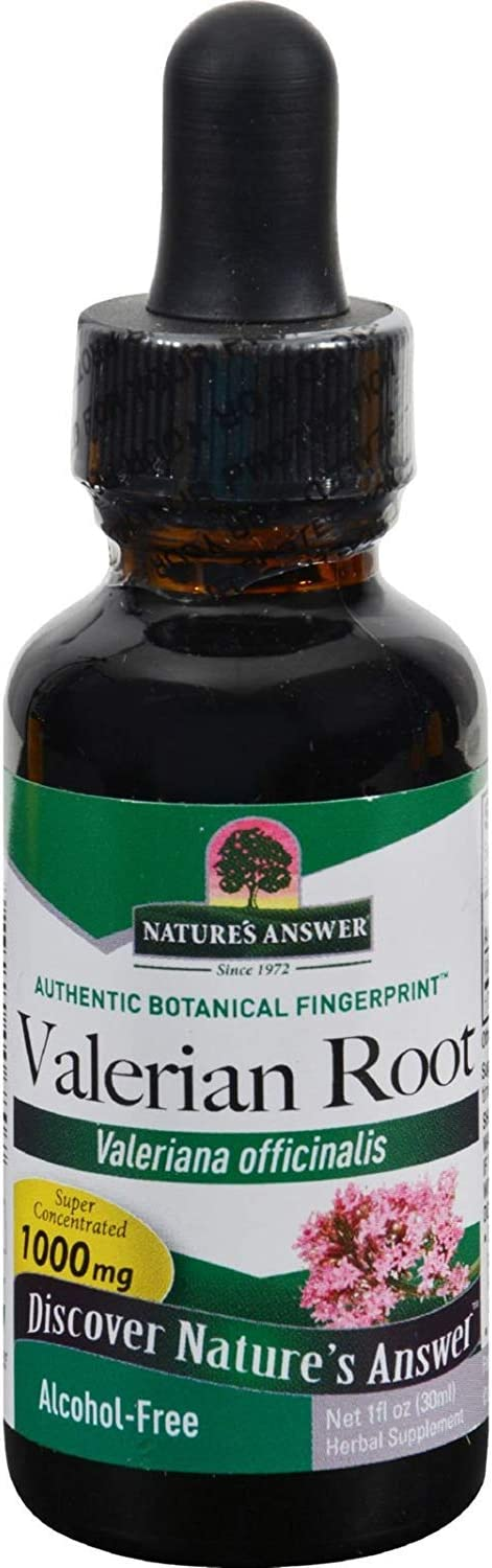 NATURES ANSWER: Valerian Root Alcohol Free 1 000 Max Ranking TOP4 42% OFF oz Pack Mg