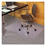 ES Robbins 121821 EverLife Chair Mats for Medium Pile Carpet, Rectangular, 36 x 48, Clear