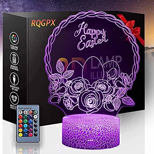 Feliz 3D noche luz USB dormitorio decoración Iluminación casa inteligente luces 16 colores cambio