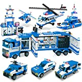 City Police, City Station Building Sets, 8 in 1 Mobile...