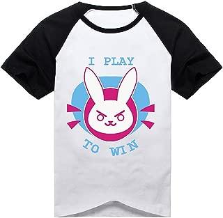 Women T-Shirt Black White Shirt Anime Shirt Short Sleeve Amélie Hana Cosplay Costume
