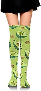 WH-CLA, Media Calcetines Largos De Aguacate Verde Calcetines Altos Hasta El Muslo Chicas Estampadas Casual Para Mujer Calcetines De Compresión Por Encima De La Rodilla Calcetines De Compr
