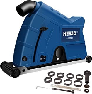 HERZO Universal Surface Cutting Dust Shroud Cover for Angle Grinder 7 Inch to 9 Inch with Cutting Disc
