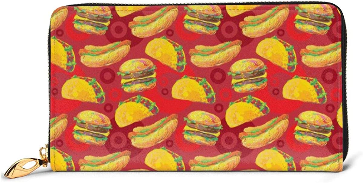 Cartoon Style Super beauty product restock quality top Hamburger New York Mall Womens Wallet Wallets Genuine Cr Leather