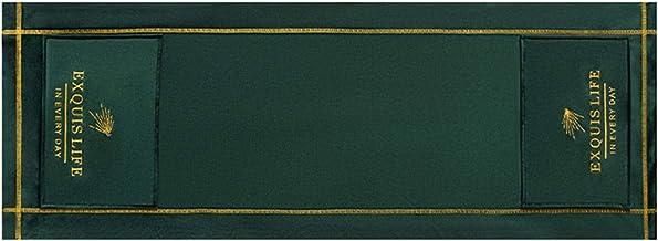 YUOKI99 Horno de microondas Suave Decoración del hogar Oficina Bordado a prueba de aceite Capota protectora anti polvo Nórdico Universal con bolsillos de almacenamiento Accesorios de cocina (verde)