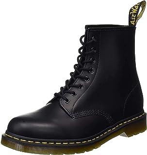 Martens Bottes à Lacets Unisexes Style Cavalier en Cuir Lisse Dr Boots