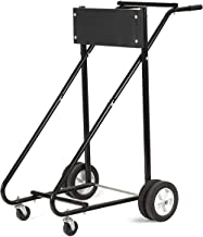 Goplus Boat Motor Stand, 315 LBS Heavy Duty Pro Outboard Engine Carrier Cart Dolly Storage (Black) (Black)