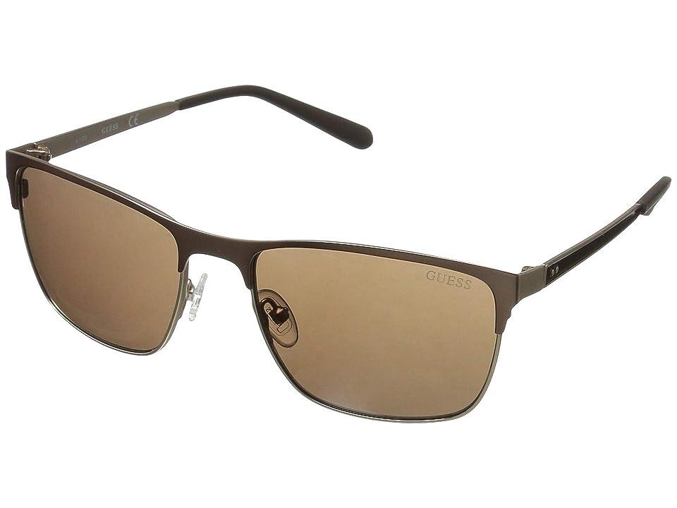 GUESS GU6878 (Matte Dark Brown/Brown Mirror) Fashion Sunglasses