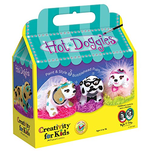 Creativity for Kids Haute Doggies Craft Kit  Makes 3 Bobble-Head Dogs  Teaches Beneficial Skills  For Ages 7 and Up