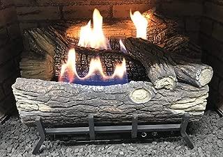 Monessen Mountain Oak Ventless Gas Logs - Remote Ready - 18 inch - Natural Gas