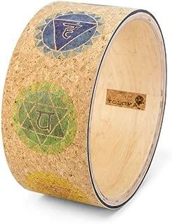 Yoloha Premium Cork Yoga Wheel, Strong, Non Slip, Sustainable, Soft, Durable, Foam, Premium, Handmade, Moisture Resistant – Yoga Wheel Guide Included