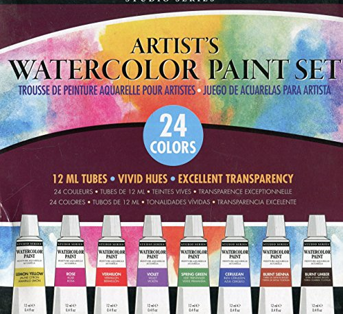 Studio Series Artist's Watercolor Paint Set (24 colors)